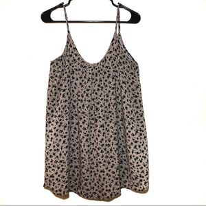 Forever 21 Tan and Black Floral Print Cami Top